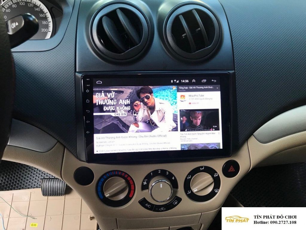 Lắp DVD Android Xe Chevrolet Aveo Quận 10