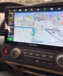 Màn Hình DVD Android Xe Honda Civic Tích Bản Đồ Dẫn Đường Navitel