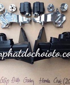 Độ Gương Gập Điện Tự Động Bằng Xương Nhôm - Motor Rin Giá Rẻ Cho Xe Honda Civic