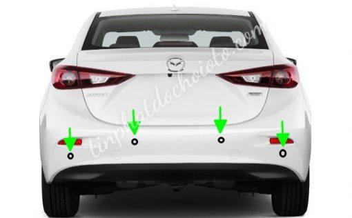 Lắp Cảm Biến Lùi Mazda 3